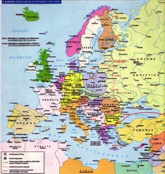 Cartina Europa 900.Storia Marche Novecento